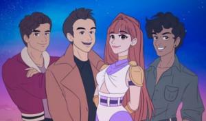 """Fotograma del videoclip animado de """"Enemigos""""."""
