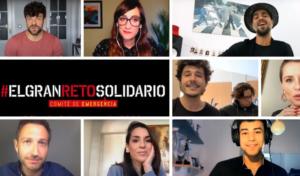 'El Gran Reto Solidario' reune a más de 100 artistas entre cantantes, influencers y presentadores de televisión