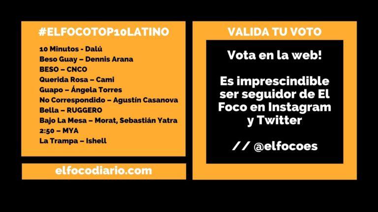 VOTA AQUÍ  | #ElFocoTOP10Latino, los 10 finalistas