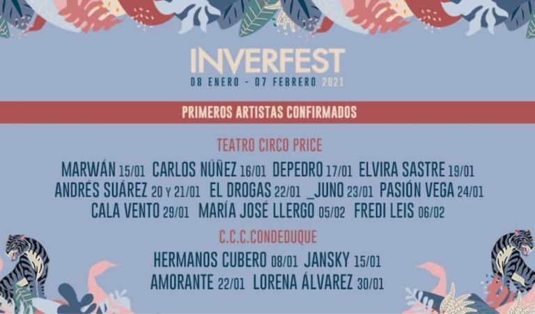 INVERFEST 2021: Conoce a los artistas del mejor festival del invierno